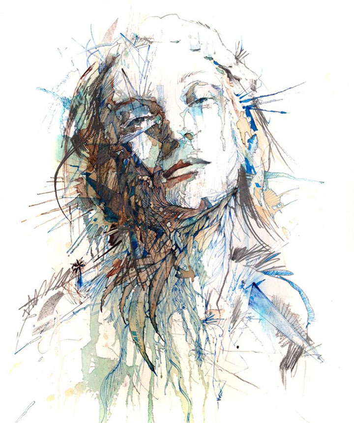 Portraits aus Wodka, Whisky, Tee & Tinte Carne_Griffiths_01