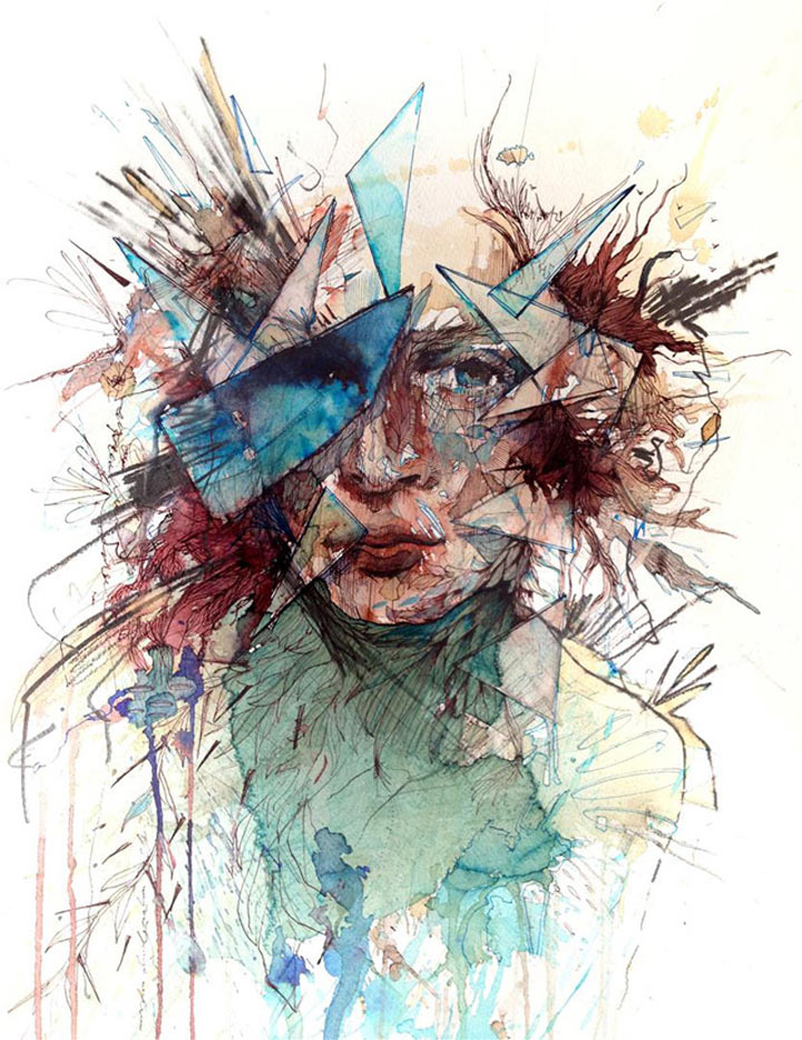 Portraits aus Wodka, Whisky, Tee & Tinte Carne_Griffiths_02