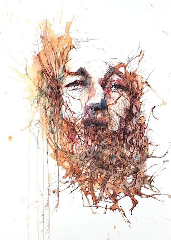 Portraits aus Wodka, Whisky, Tee & Tinte Carne_Griffiths_08