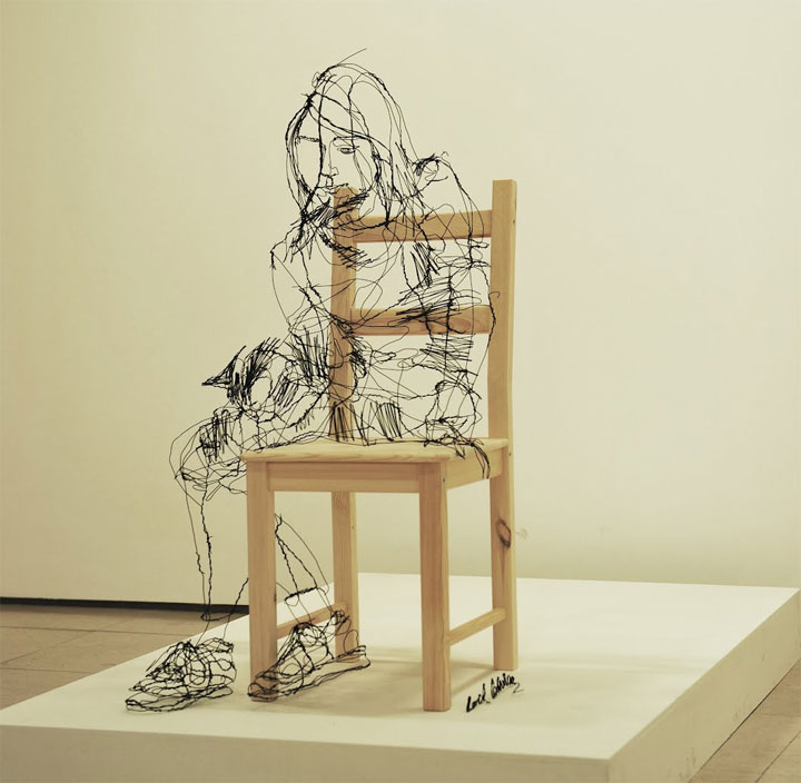 skizzierte Drahtskulpturen David_Oliveira_01