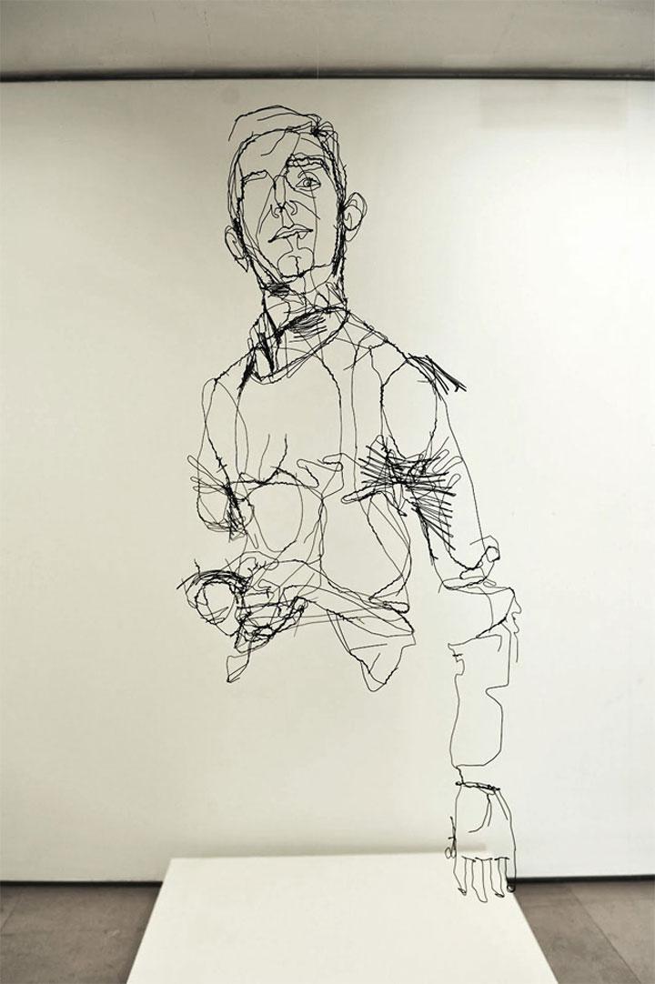 skizzierte Drahtskulpturen David_Oliveira_02