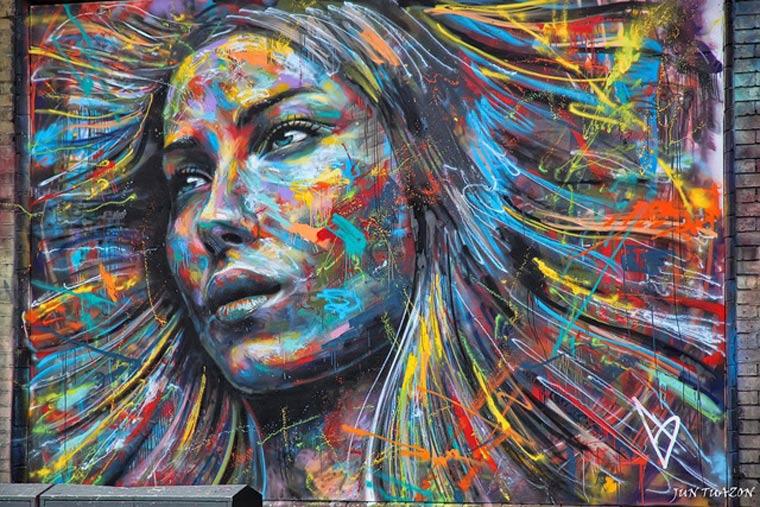 Street Art: knallbunte Portraits von David Walker David_Walker_01