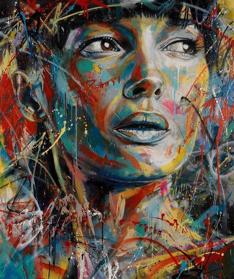 Street Art: knallbunte Portraits von David Walker David_Walker_02