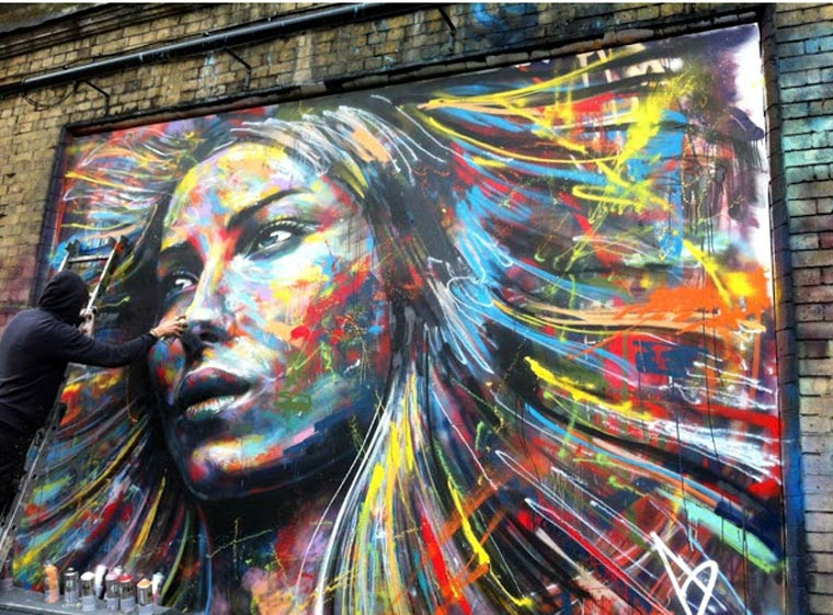 Street Art: knallbunte Portraits von David Walker