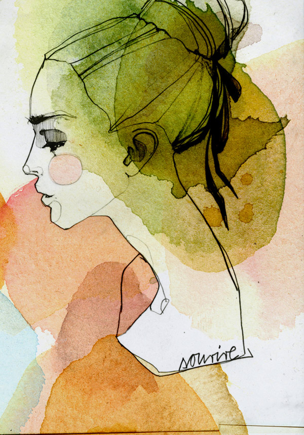 watercolor paintings by Ekaterina Koroleva