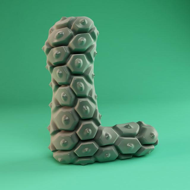 3D-Alphabet FOREAL_alphabet_12