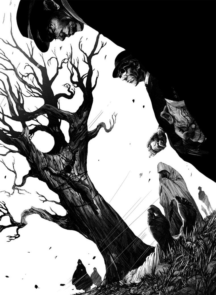 schwarz-weiße Tintenkratzzeichnungen Nico-Delort_05