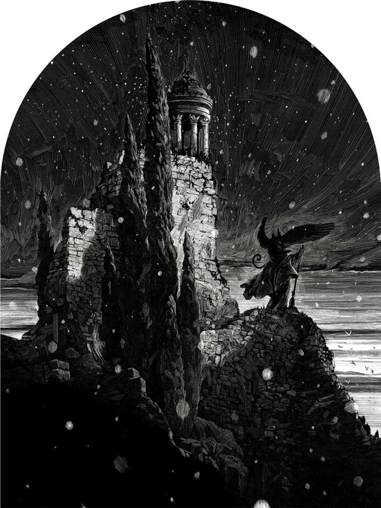 schwarz-weiße Tintenkratzzeichnungen Nico-Delort_06