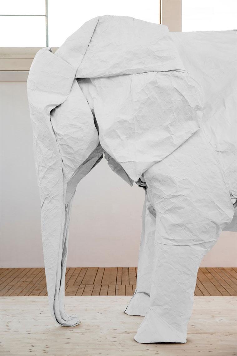 lebensgroßer Origami-Elefant Origami_Elephant_04