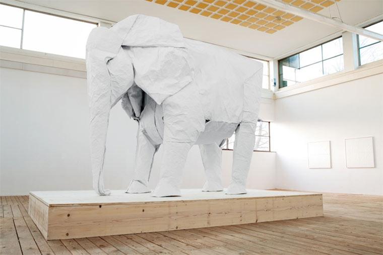 lebensgroßer Origami-Elefant Origami_Elephant_07