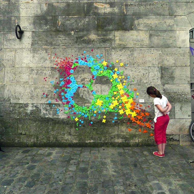 Origami-Street Art: Mademoiselle Maurice Origami_Street-Art_Madm-Maurice_05