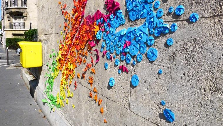 Origami-Street Art: Mademoiselle Maurice Origami_Street-Art_Madm-Maurice_09