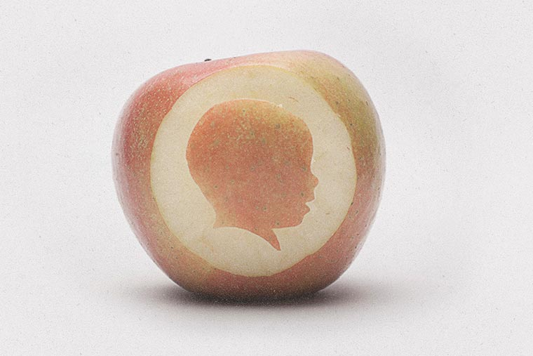 Designer macht wöchtentliche Profilportraits seiner Tochter Silhouette_project_04