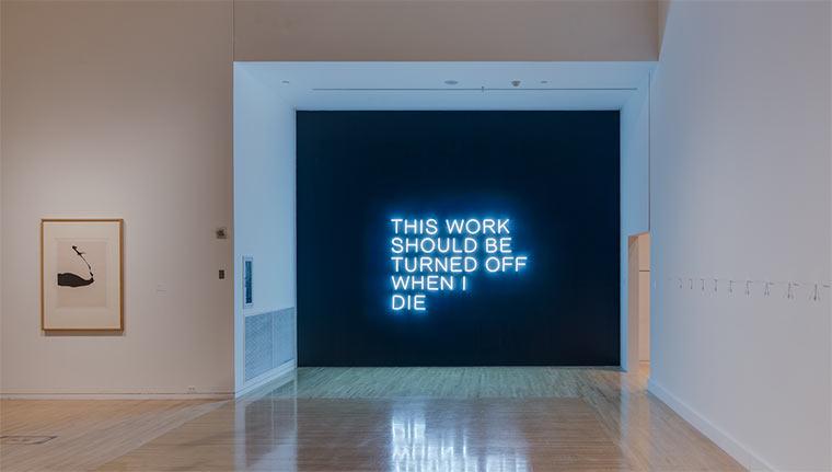 Text-Installationen von Stefan Brüggemann