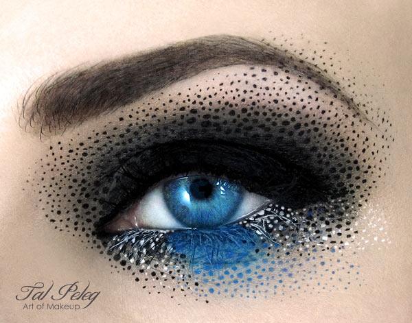 kreatives Augenmakeup