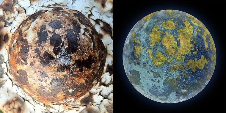 Planeten aus verrosteten Feuerhydranten fire_hydrant_planets_06