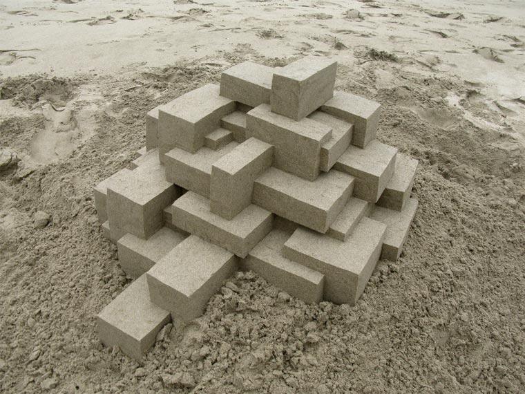 Geometrische Sandburgen geometric_sandcastles_Calvin_Seibert_01
