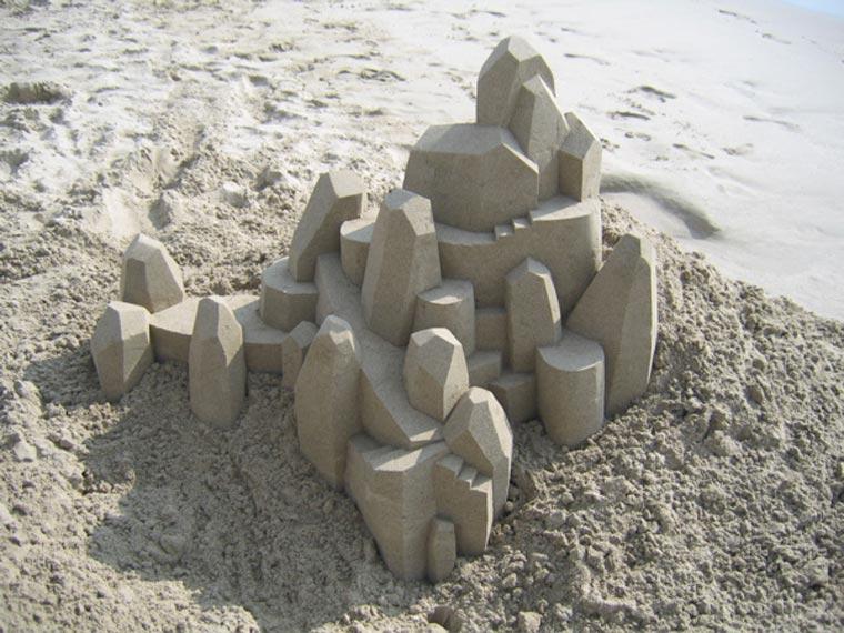 Geometrische Sandburgen geometric_sandcastles_Calvin_Seibert_02
