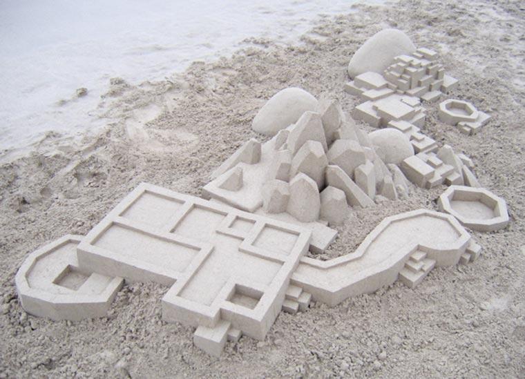 Geometrische Sandburgen geometric_sandcastles_Calvin_Seibert_03