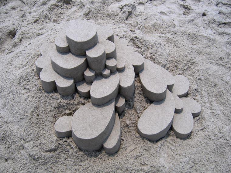 Geometrische Sandburgen geometric_sandcastles_Calvin_Seibert_04