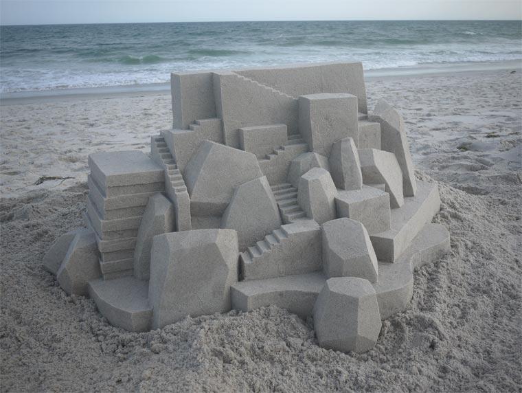 Geometrische Sandburgen geometric_sandcastles_Calvin_Seibert_05