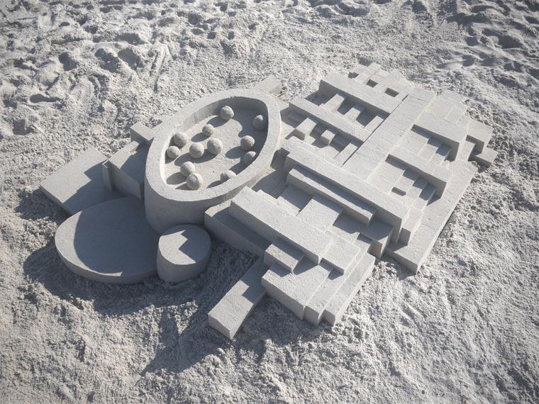 Geometrische Sandburgen geometric_sandcastles_Calvin_Seibert_06