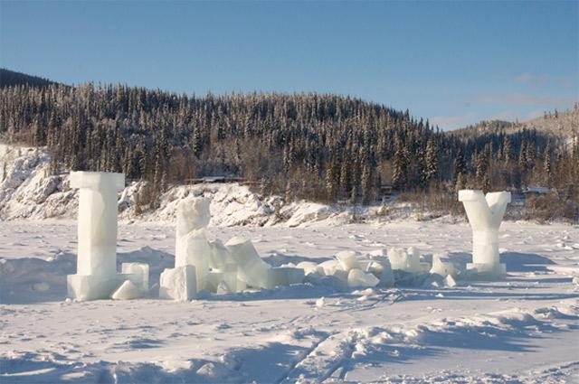 Ice Typography by Nicole Dextras
