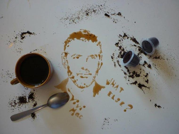 Portraits aus Milch und anderen Lebensmitteln