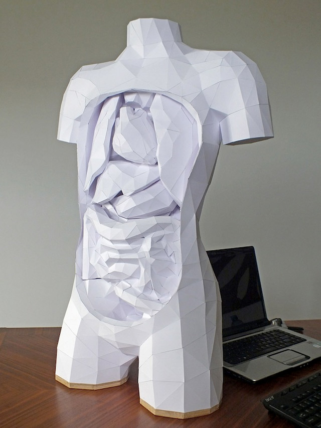 Der Körper besteht zu 100% aus Luft und Papier paper_torso_01