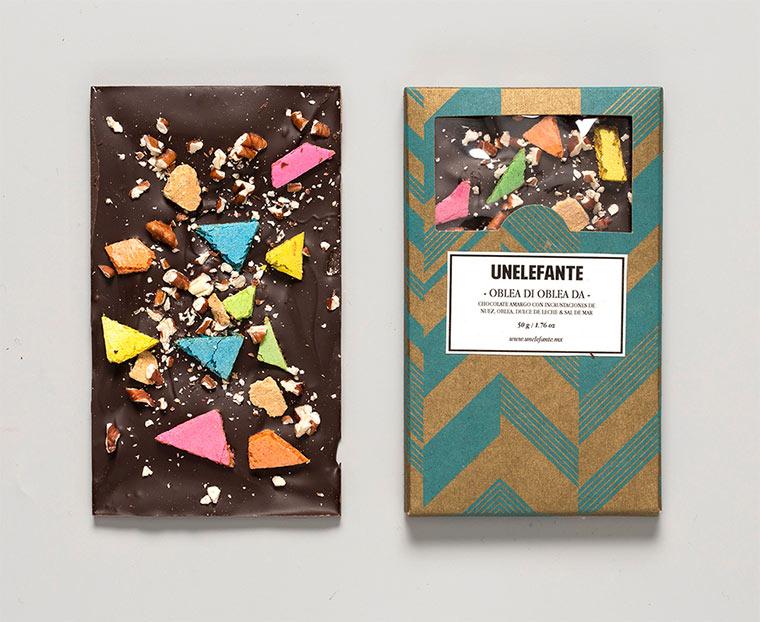 Farbspritzer- und Knet-Schokolade