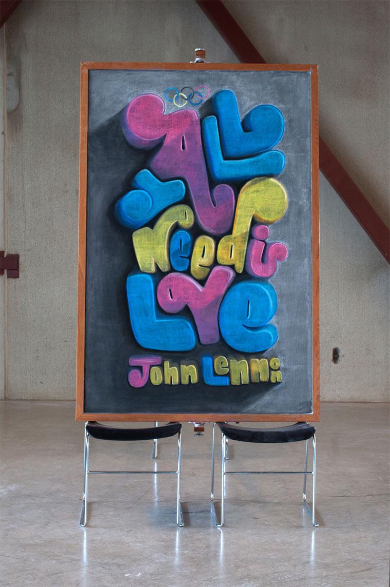 Kreidekreationen berühmter Zitate Chalkboards_02
