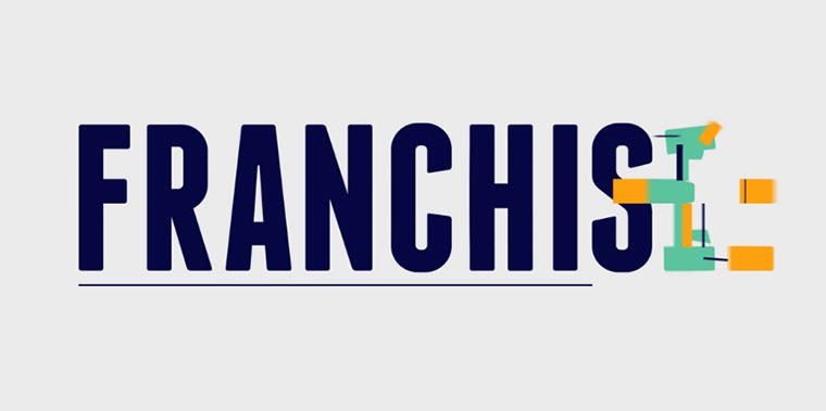 animierte Schriftart: Franchise FRANCHISE_01