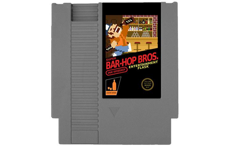 NES Cartridge-Flachmann