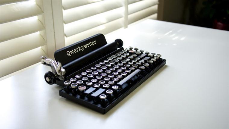 Retro Schreibmaschinen-Tastatur Qwerkywriter_01