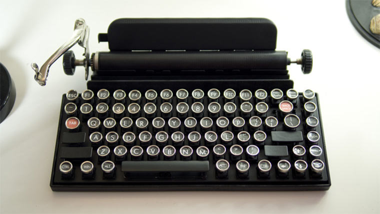 Retro Schreibmaschinen-Tastatur Qwerkywriter_02