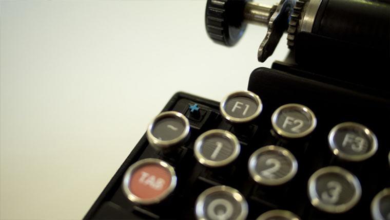 Retro Schreibmaschinen-Tastatur Qwerkywriter_04