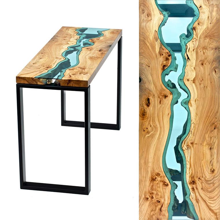 Holztische mit integrierten Glasflüssen Wood-with-Glass_02