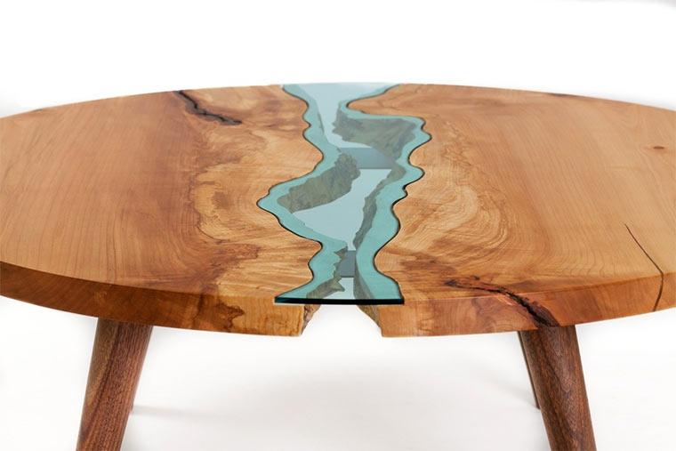 Holztische mit integrierten Glasflüssen Wood-with-Glass_05