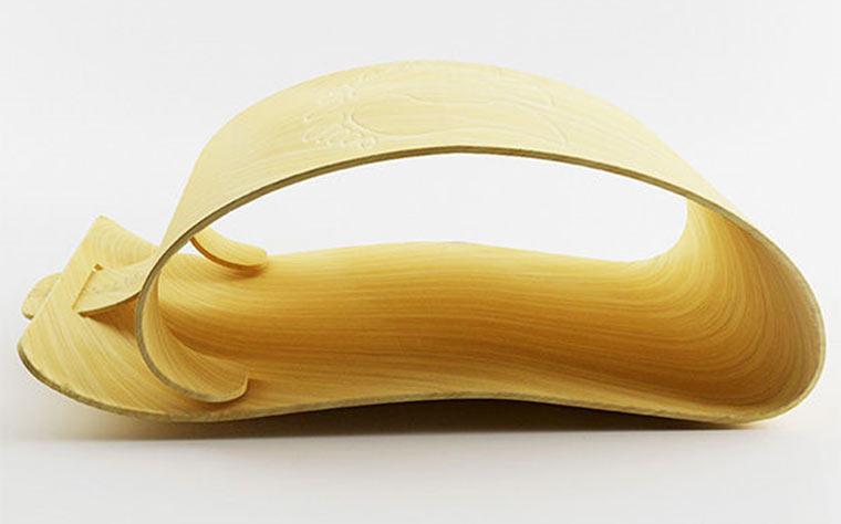 Analoge Waage aus Bambus