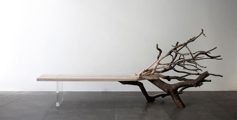Stylisch: die Baumstammbank fallentree_01