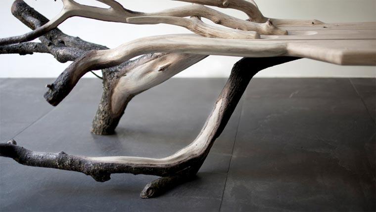 Stylisch: die Baumstammbank fallentree_02