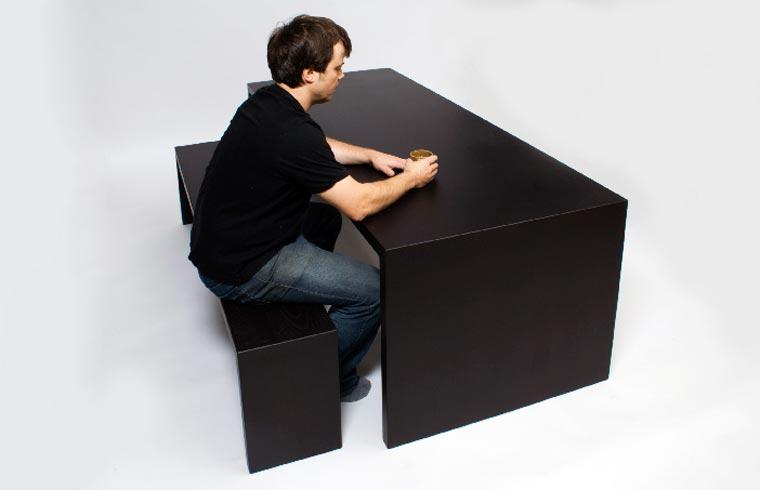 thermosensorisches Tischdesign merkt sich deine Sitzhaltung