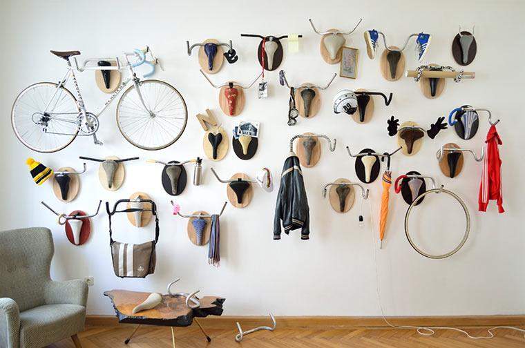Fahrrad-Jagd-Trophäen