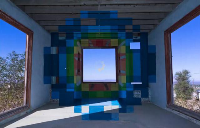 Wüsten-Timelapse + Optical Illusion Painting FlawedSymmetryofPrediction