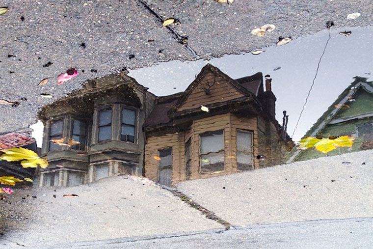 Pfützenreflektionen San Franciscos SanFrancisco_Puddles_01