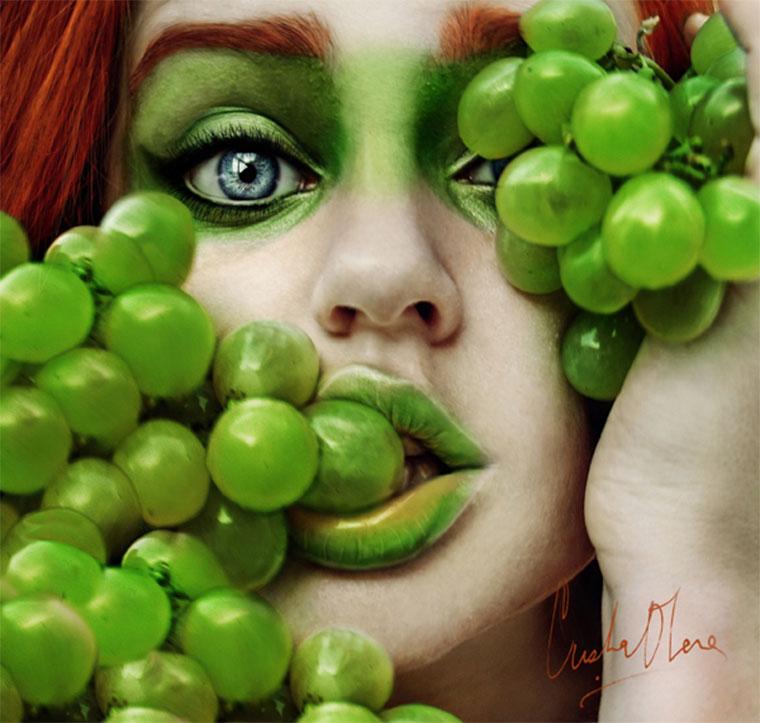 Fruchtige Selbstportraits: Christina Otero Tutti-Frutti_01