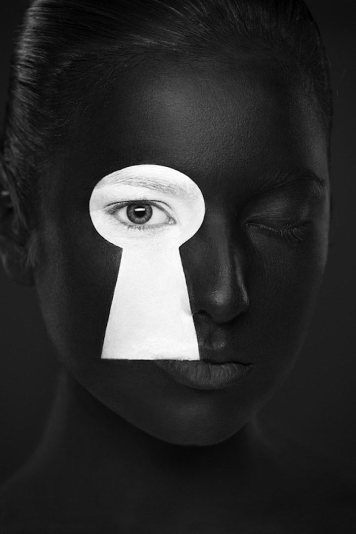 schwarzweiße Gesichtsillustrationen face_illustrations_03