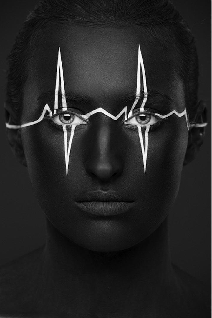 schwarzweiße Gesichtsillustrationen face_illustrations_04
