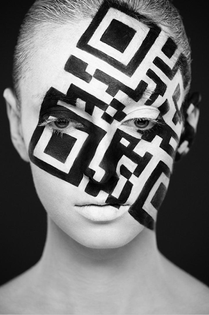 schwarzweiße Gesichtsillustrationen face_illustrations_06