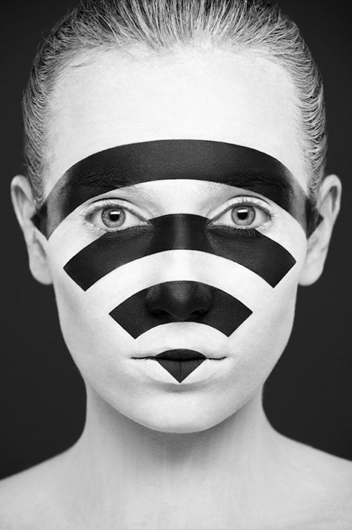 schwarzweiße Gesichtsillustrationen face_illustrations_07